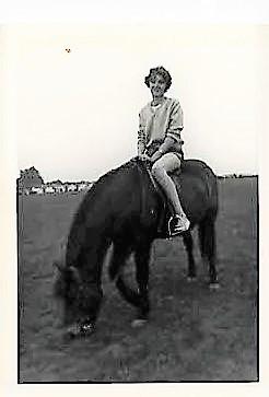Maureen horseriding 1961