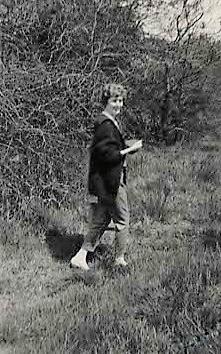 Maureen in the woods